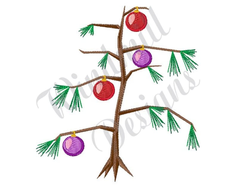 Bare Christmas Tree Clipart.Bare Christmas Tree Machine Embroidery Design Embroidery Designs Machine Embroidery Embroidery Pattern Embroidery File Instant Download