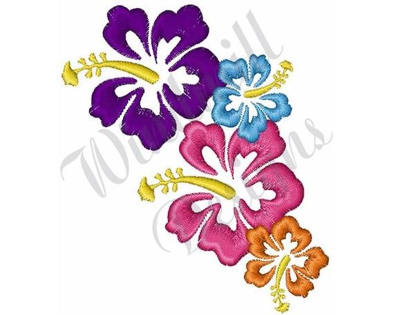 Fiori Hawaiani Disegni.Fiori Hawaiani Disegno Ricamo Macchina Etsy