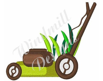 Lawn Mower - Machine Embroidery Design