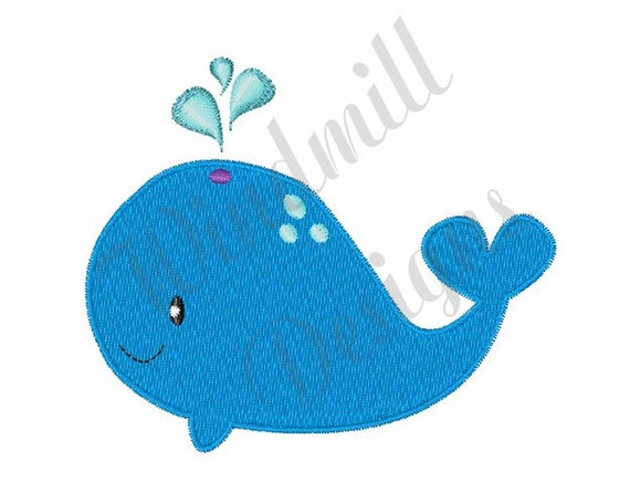 Whale Machine Embroidery Pattern Whale Embroidery Design Digital File