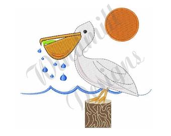Pelican Bird - Machine Embroidery Design
