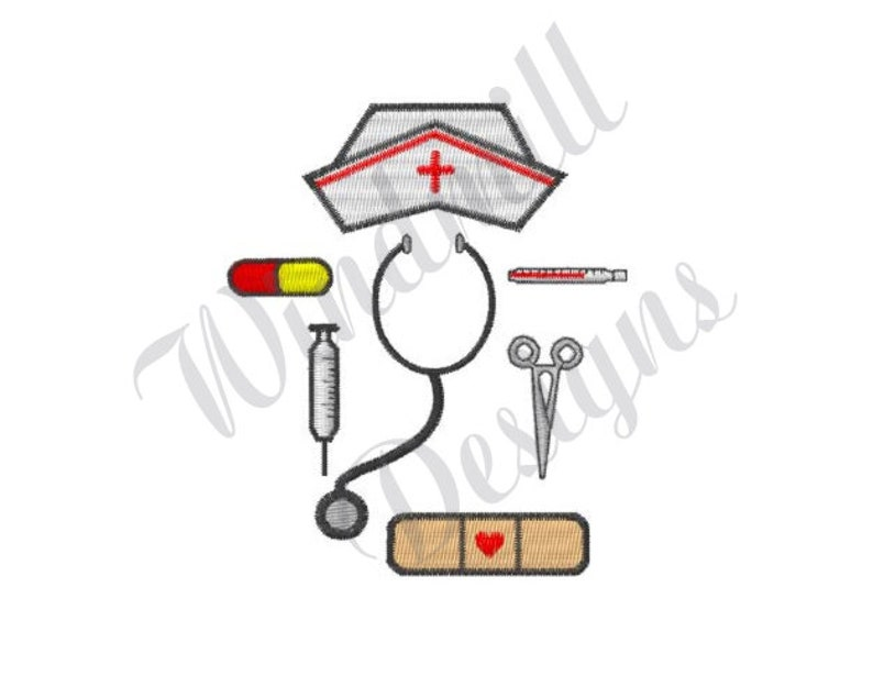 Nurse Tools - Machine Embroidery Design, Embroidery Designs, Machine  Embroidery, Embroidery Patterns, Embroidery Files, Instant Download