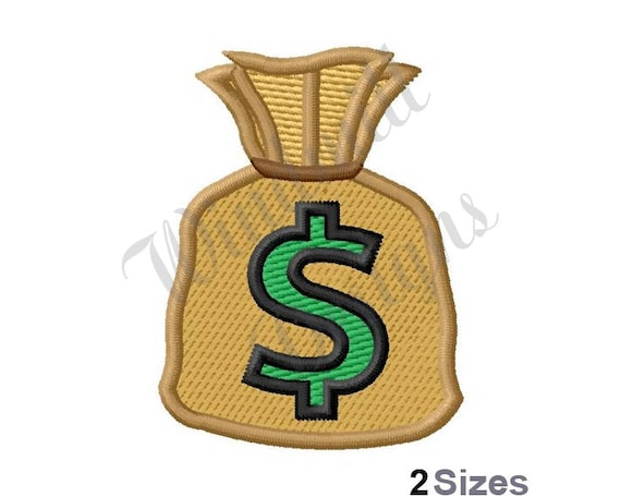 Money Bag Machine Embroidery Design Embroidery Designs Etsy