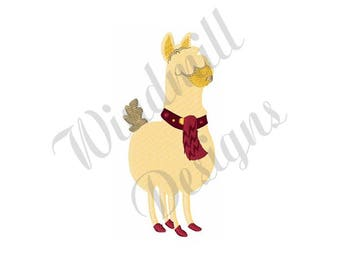 Holiday Llama - Machine Embroidery Design