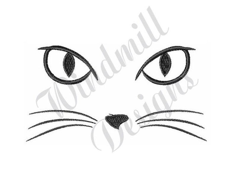 Fronte Del Gatto Disegno Di Ricamo Di Macchina Etsy