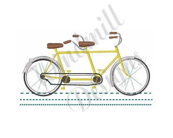 Tandem Bicycle - Machine Embroidery Design