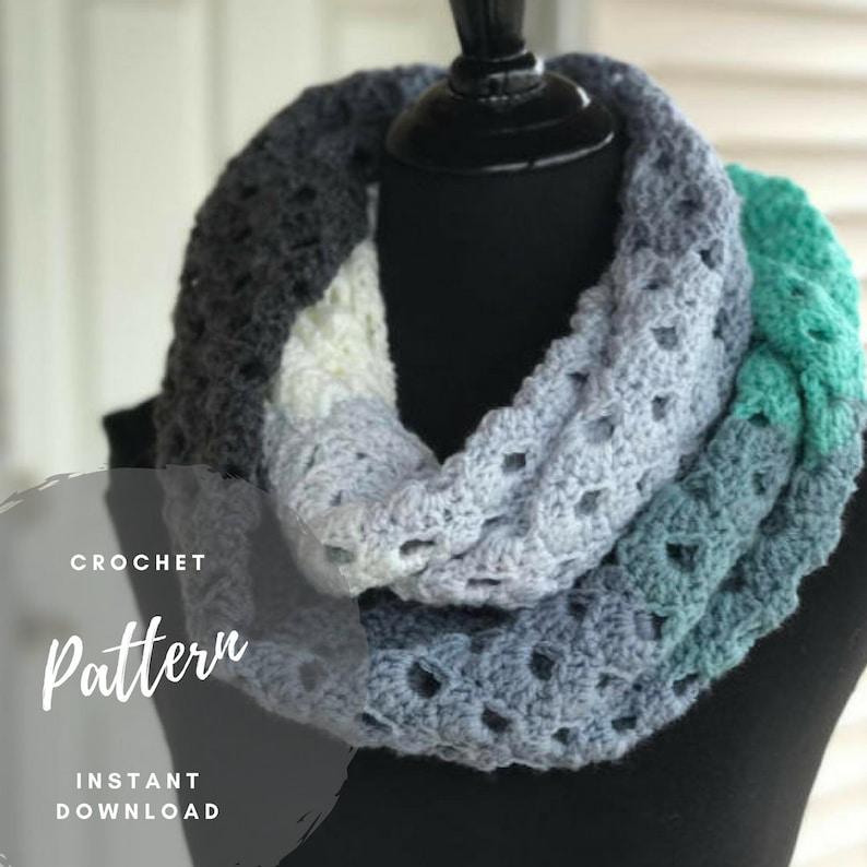Crochet Cowl Pattern Mandala Scarf Pattern One Skein Etsy