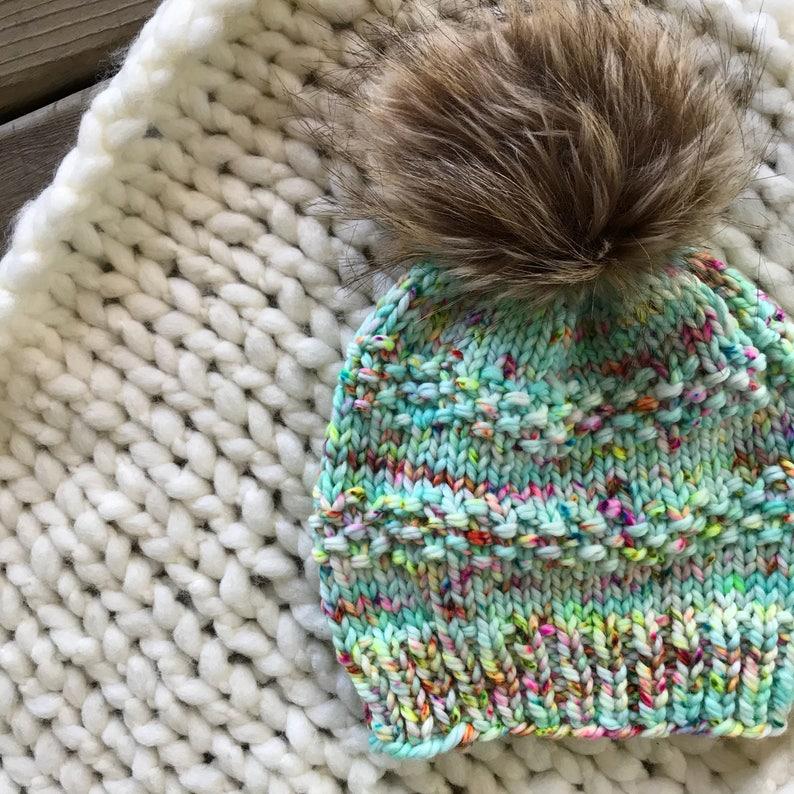 b740117e9b865 Knit Hat Pattern Pom Pom Hat Pattern Slouchy Beanie Seed