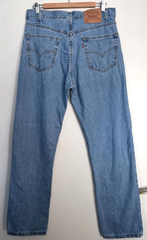 Vintage 90s blue Levi's 505 jeans, 90s Levi Straus