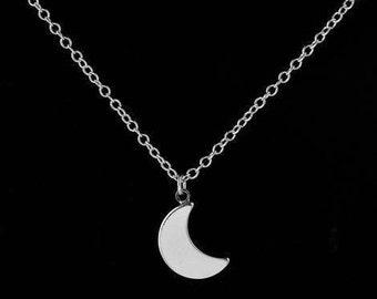 Crescent Moonshine Short Choker Necklace