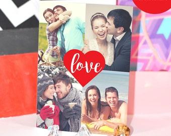 5x7 Love Heart Digital Personalized Anniversary Card/ Custom Photo & Text / Custom Envelope INCLUDED / DIY Printable / Love Greeting Card