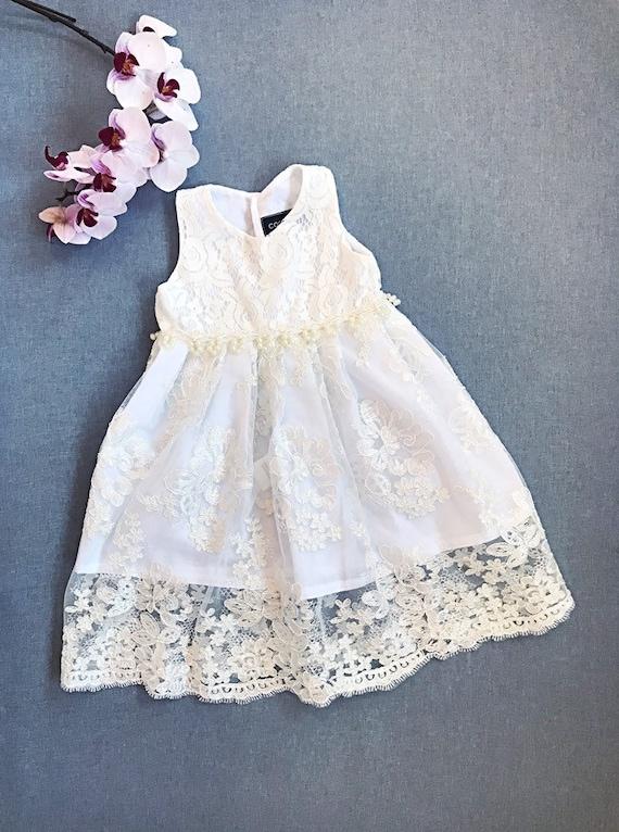 Nyx Elfenbein Taufe Kleid Bio Baumwolle Taufe Taufkleid Spitze Baby Mädchen Taufe Kleid Hingabe Kleid Kleid Taufe Kleid