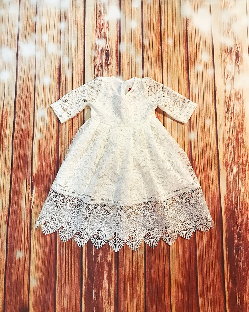 19498742b45 Iris gorgeous lace baptismal dress organic cotton christening