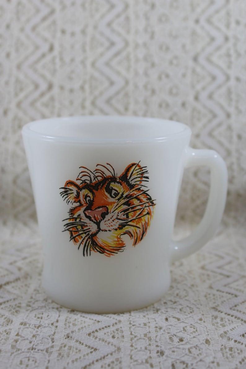 1506f6ae123 Vintage Fire King Esso Tiger Mug Tony the Tiger Advertising | Etsy