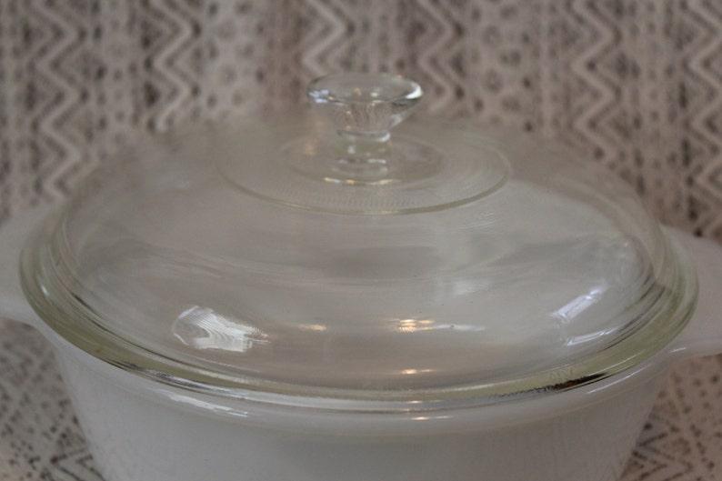 Milk Glass Casserole Dish Fire King Opal Casserole Dish with Lid 1-12 Quart Casserole Dish Fire King White Casserole Dish Baking Dish