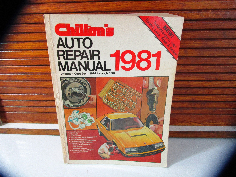 motor auto repair manual 1974