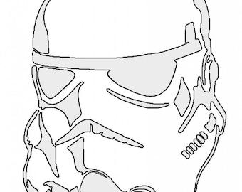 picture regarding Stormtrooper Stencil Printable identify Stormtrooper stencil Etsy