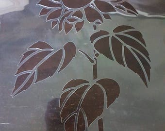 Large Sunflower Stencil handcut