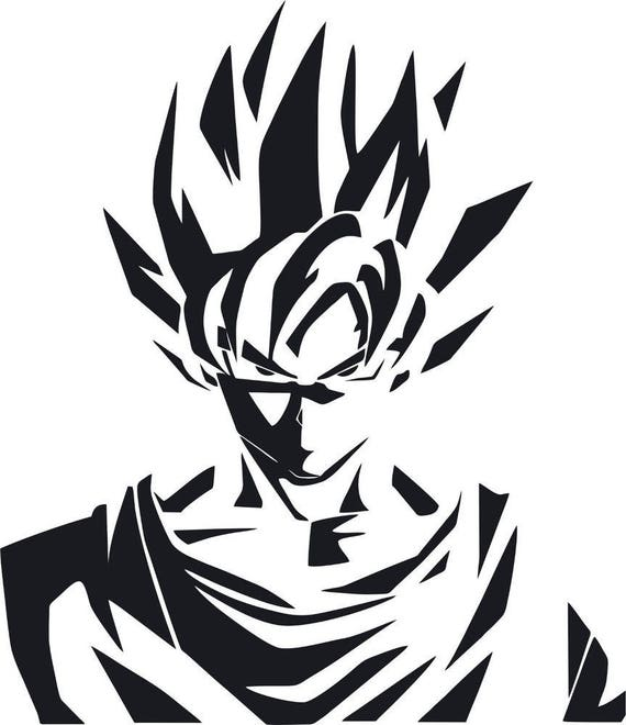 dragonball z goku anime stencil handcut etsy