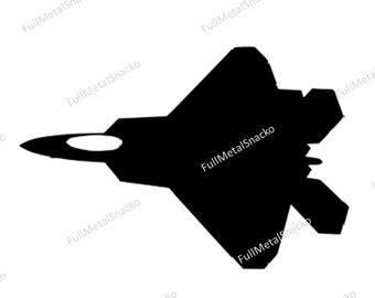 F-22 Raptor Decal Top Down View - FREE SHIPPING
