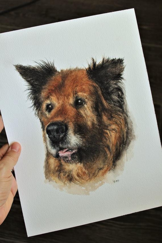 Custom Hand-Painted Watercolor Portraits 9 x 12