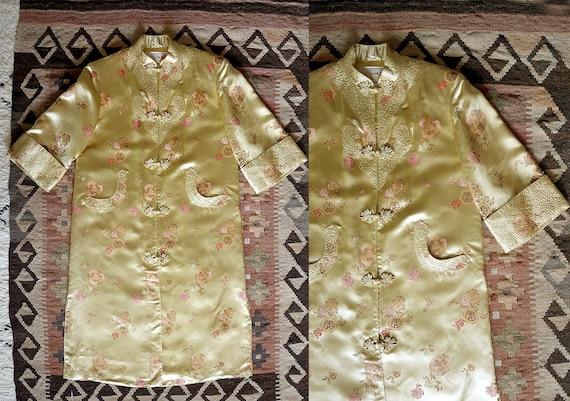 1970s vintage robe / bohemian Chinese jacket /  vi