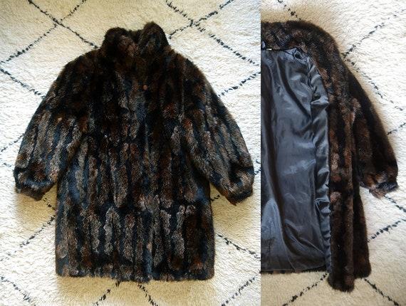 Fabulous 1980s vintage faux fur / cocoon coat / Ov