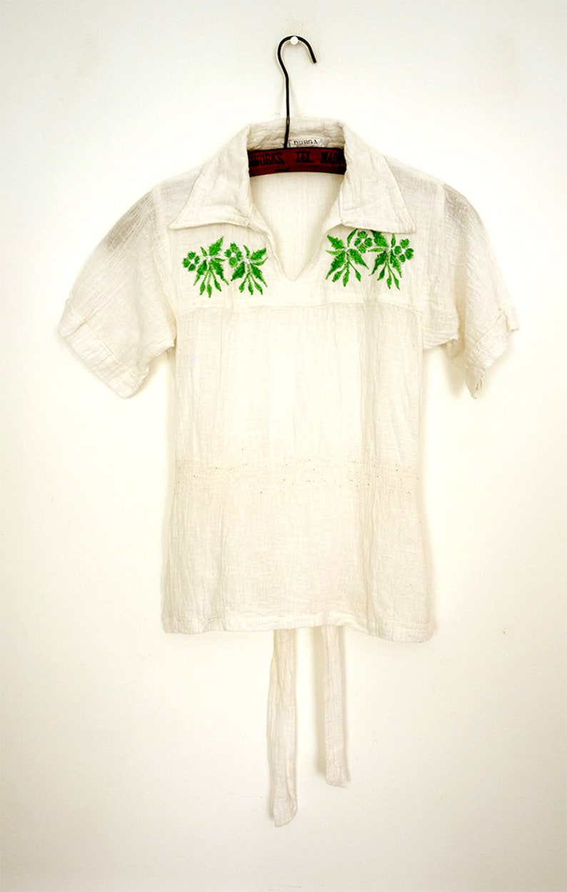 1970s cheesecloth  gauze tunic Dead stock unworn  Indian cotton tunic  hippy