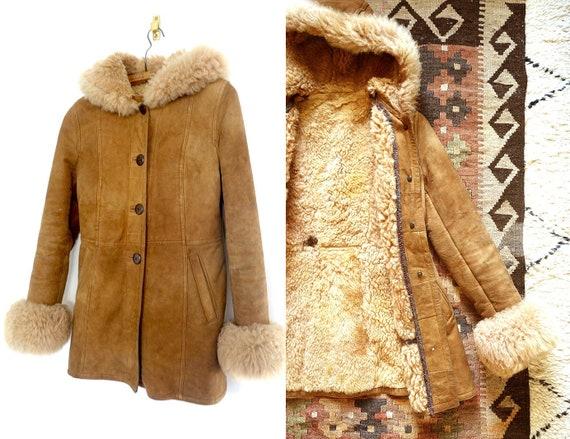 Shearling Afghan Coat, Sheepskin Shearling Coat, B