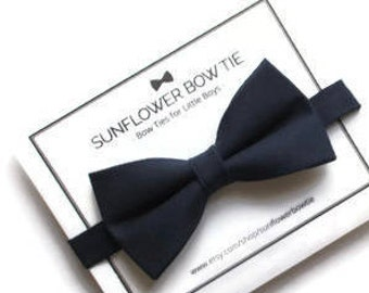 21ab4482ba92 Navy Blue Bow Tie - Bow Ties for Boys - Men Bow Tie - Toddler Bow Tie -  Wedding Bow Tie - Bow Ties Navy - Baby Bow Tie - Bow Tie for Boy