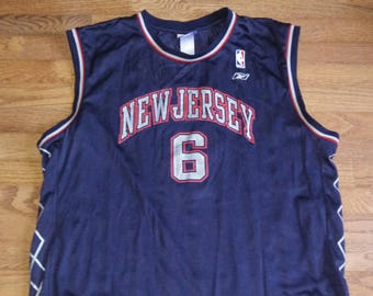 Vintage Mens NBA New Jersey Nets Kenyon Martin basketball jersey e63dc5159