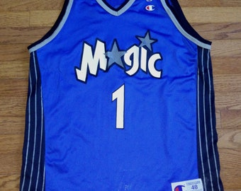 eb14e5c53 Vintage Mens NBA Champion Tracy McGrady Orlando Magic basketball jersey