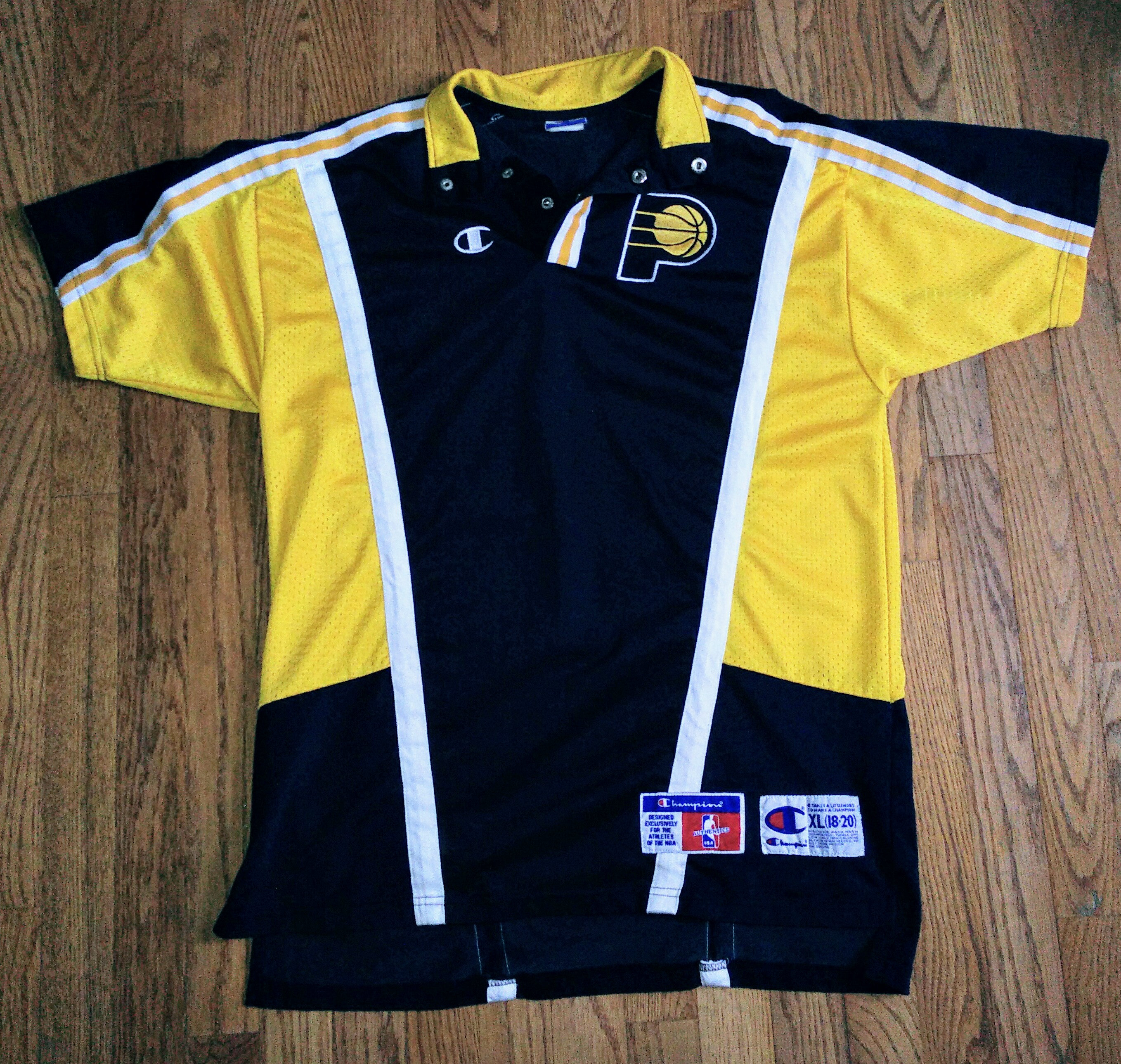 3cddfea1e Vintage NBA champion Indiana Pacers warm up basketball jersey