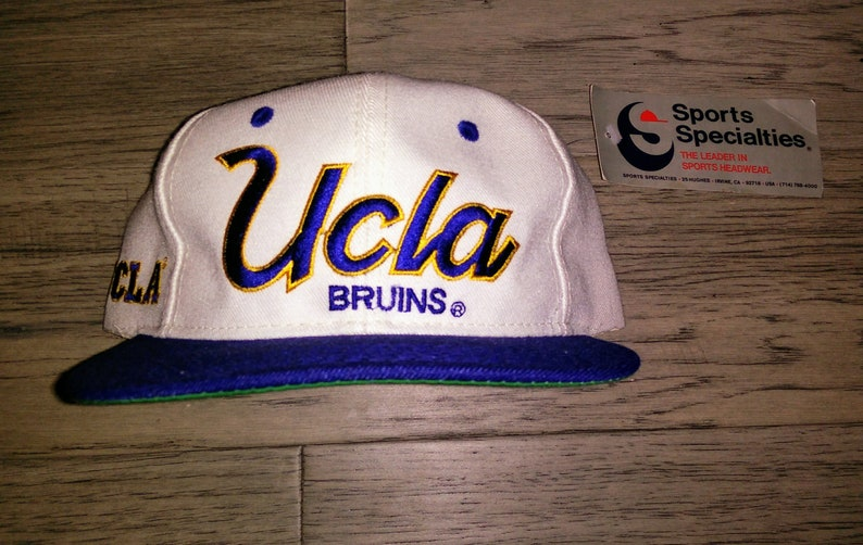 huge discount 1a7b2 31825 Vintage adult NCAA UCLA Bruins Spots Specialties script twill   Etsy