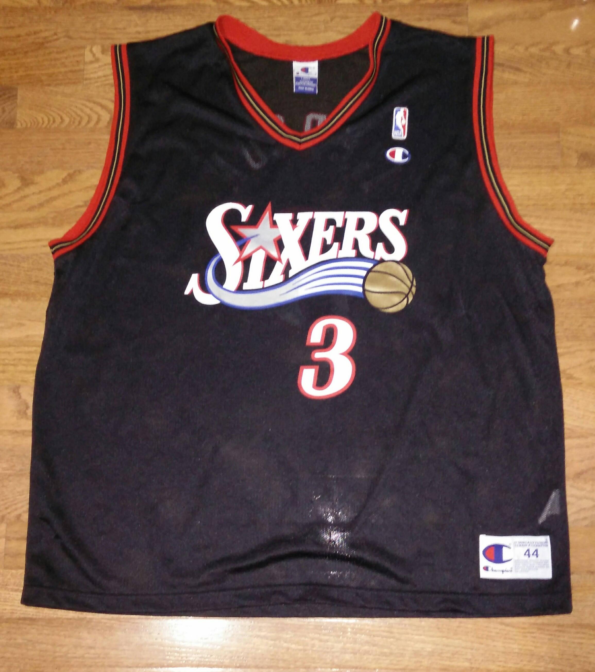 5bda70733 Vintage Mens NBA Philadelphia 76ers Sixers Allen Iverson