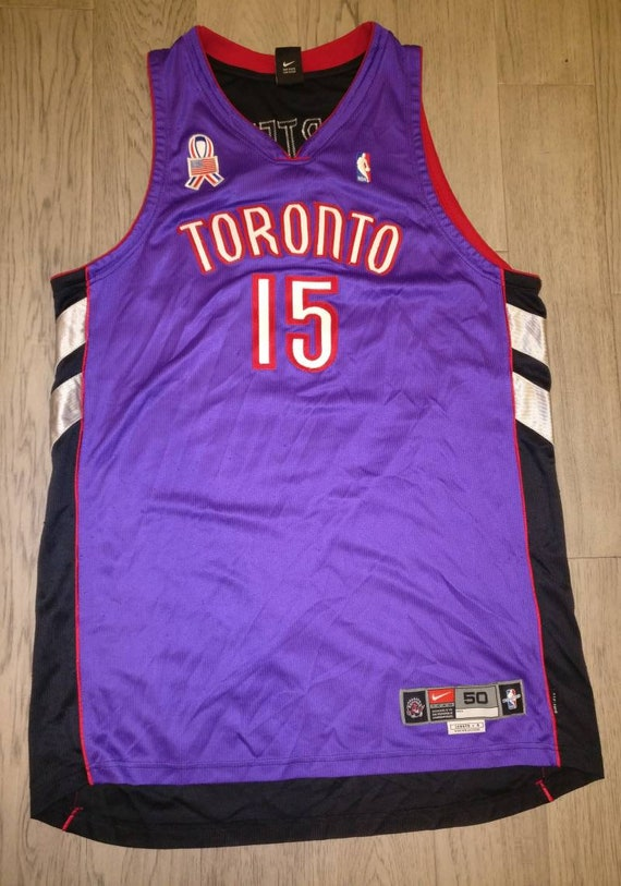 brand new bb1ed 794f7 Vintage NBA Authentic Mens Nike Toronto Raptors Vince Carter basketball  jersey