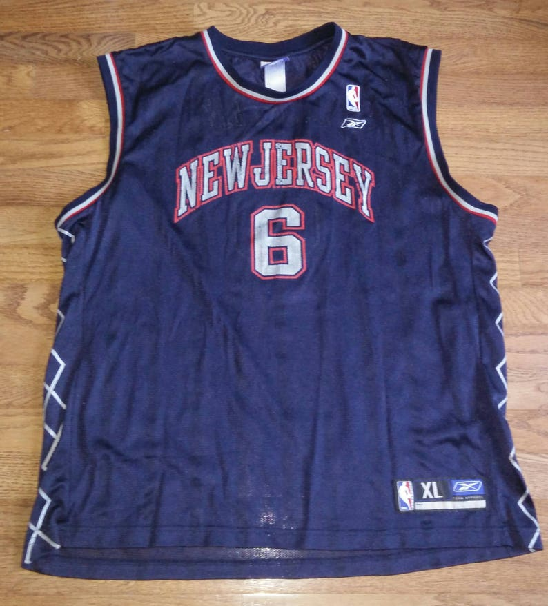 ea99e6d6b Vintage Mens NBA New Jersey Nets Kenyon Martin basketball