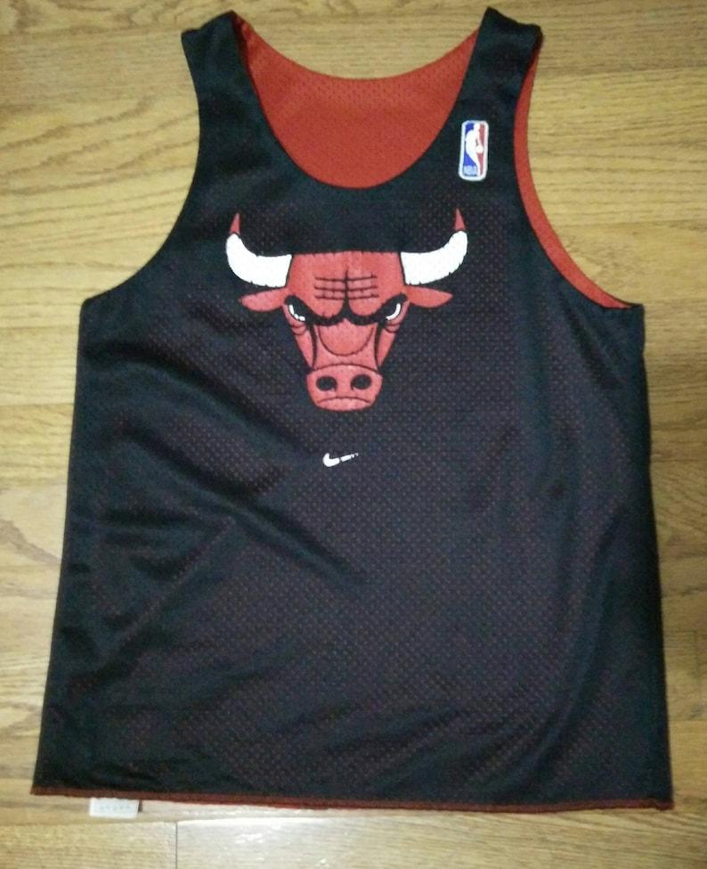 887c2da5ff75e Vintage NBA Youth Nike Chicago Bulls practice reversible | Etsy
