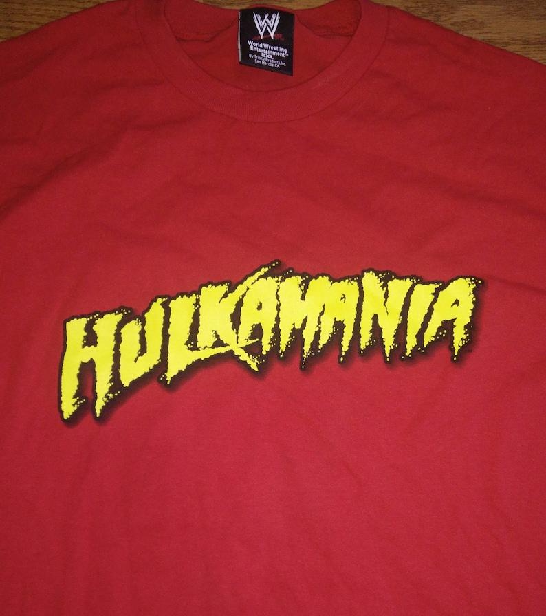 VTG WWE WWF Mens wrestling Hulk Hogan Hulkamania tshirt