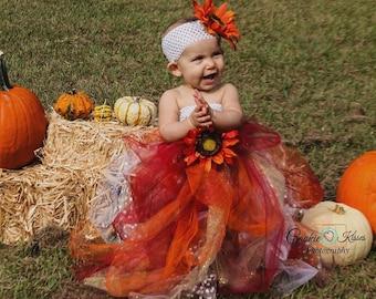 Baby or Girl Tutu Dresses Sunflower Girl