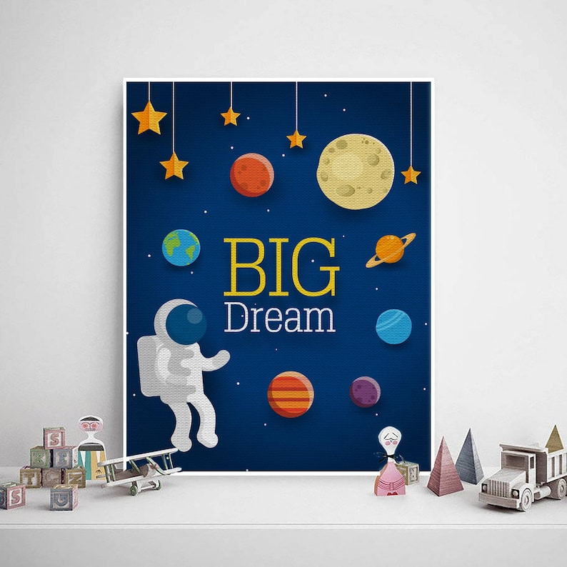 Outer Space Wall Art. Solar System Boys Room Wall Prints. Kids | Etsy