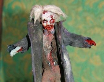 1:12 scale dollhouse zombie grand-dad