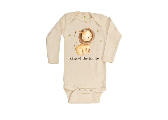 Safari Animals Onesie Long Sleeve Short Sleeve Safari Jungle Cute Onesie Cute Funny Baby Boy Bodysuit Lion Baby Boy Bodysuit Newborn Baby Coming home Outfit Romper