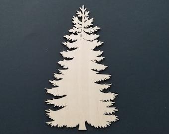 Pine Tree Shape, Christmas Tree Cutout, Wooden Pine Tree, Evergreen Tree, New  Year Tree, New Year Decor, Christmas Decoration