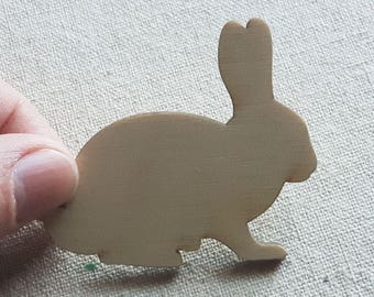 "2"" Small Wooden Bunny, Easter Bunny, Bunny Decor, Bunny Rabbit, Bunny Decorations, Shabby Easter Decor, Easter Primitives, Rustic Decor"