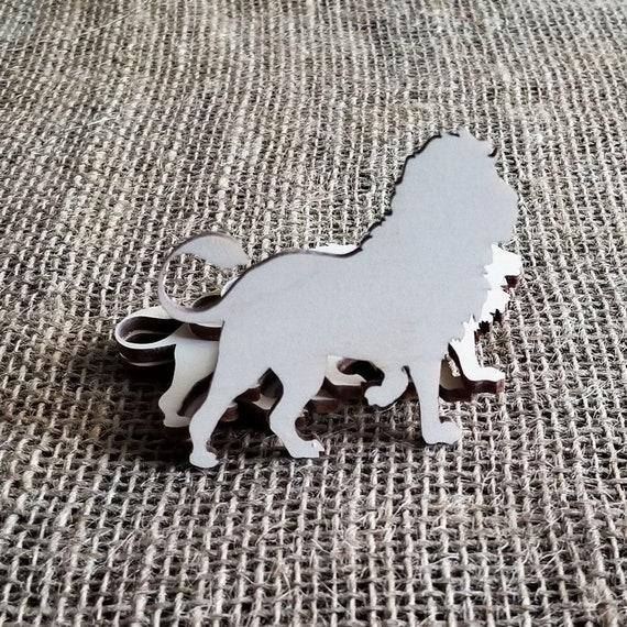 5 Pcs Wooden Lion Cutouts For Crafts Decor
