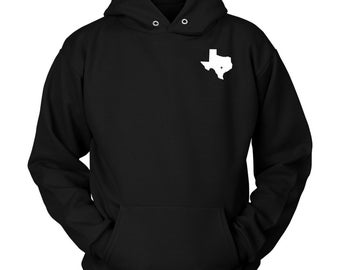 Texan State Pride Cool Youth Fleece Crewneck Sweater Texas Map