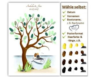Fingerabdruck Baum Geburtstag Geschenk Gästebuch Etsy