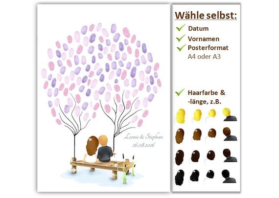 Fingerabdruckbaum Weddingtree Geschenke Hochzeit Maritim Etsy