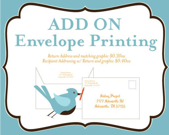 Add Envelope Return Address And Or Recipient Address Etsy